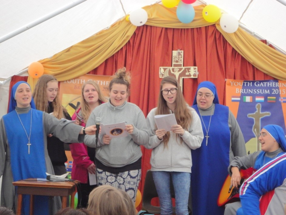 Servants of the lord and the Virgin of Matará (SSVM - IVE) in Iceland mission. Youth day in the Netherlands.